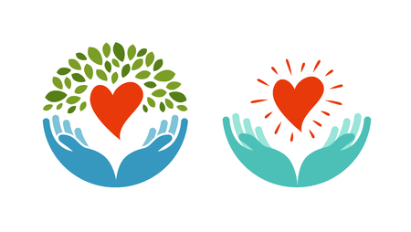 Illustration pour Love, ecology, environment icon. Health, medicine or oncology symbol isolated on white background - image libre de droit