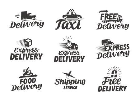 Illustration pour Express delivery service. Vector icon or symbol - image libre de droit