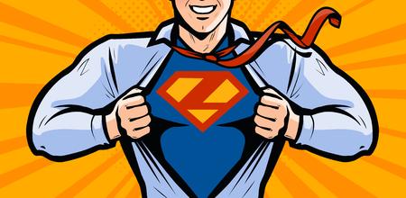 Illustration pour Superhero. Vector illustration in style comic pop art - image libre de droit