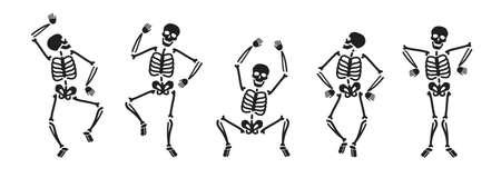 Illustration pour Funny skeleton symbol. Halloween concept vector illustration - image libre de droit