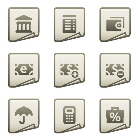 Finance web icons set 2, document series