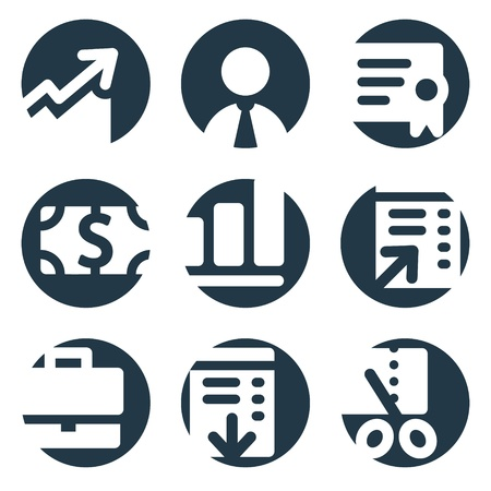 Finance web icons, crop series