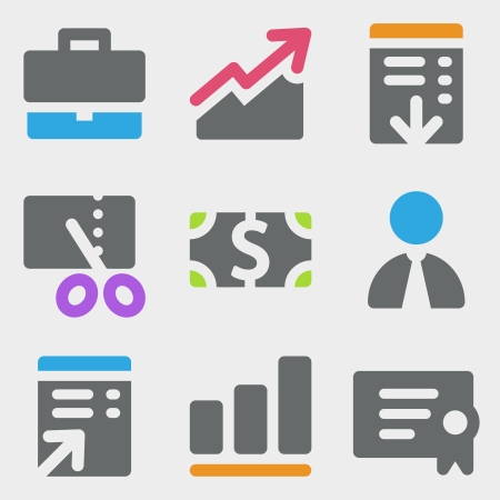 Finance web icons color icons