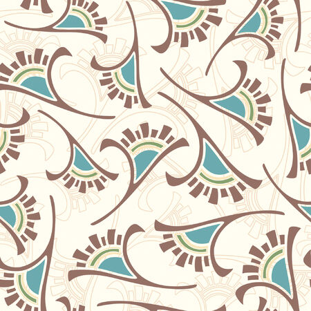 abstract flowers pattern in modern style