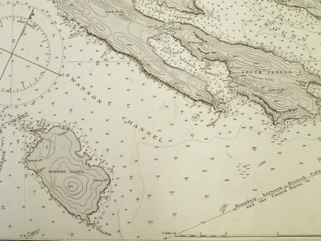 Vintage nautical chart