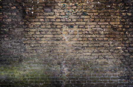 Foto de Old stone wall background. Background with Old Vintage Dirty Brick Wall, Texture. Shabby Building Facade - Imagen libre de derechos