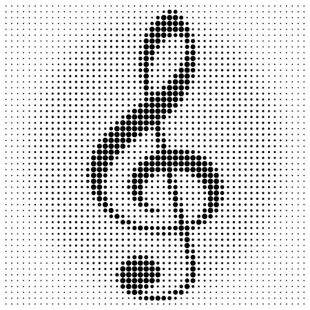 treble clef on a white background