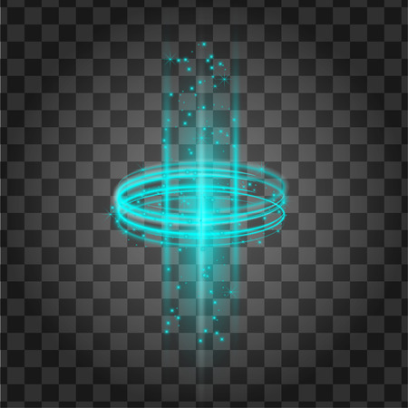 Laser Light Effect. Magic Funel Cylinder Portal. FastSpeed Swirl Wind with Glow. Cold Neon Tunnel with Glitter Sparcle. Magical Teleportation Ellipse. Glitter Decoration. Oval Lazer Halo Ray.
