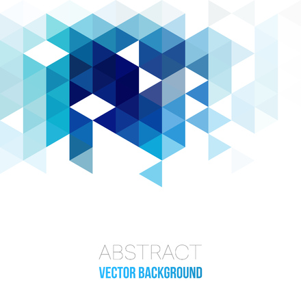Illustration for Vector Abstract geometric background with triangles. Vector illustration. - Royalty Free Image