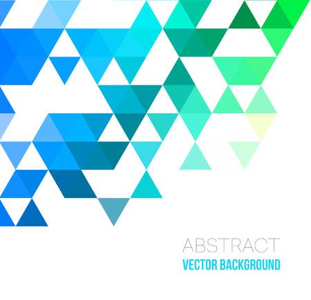 Illustration for Vector Abstract geometric background with triangles. Vector illustration for your web design, desktop wallpaper or website. - Royalty Free Image