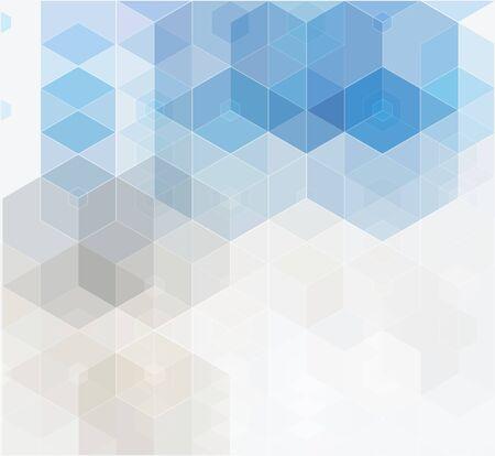 Illustration pour Vector Abstract geometric background. Blue hexagon shape - image libre de droit