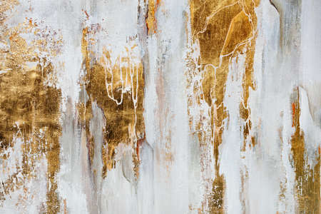 Foto de The texture of the oriental style of gray and gold canvas with an abstract pattern, close-up. - Imagen libre de derechos