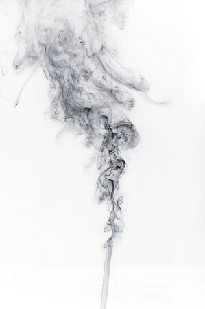 abstract black smoke on a white background