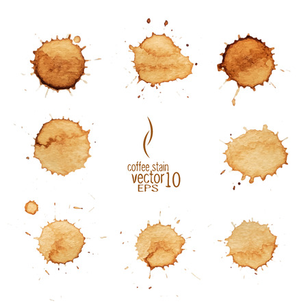 Illustration for Coffee stain watercolor vector. Coffee stain, isolated on white background. - Royalty Free Image