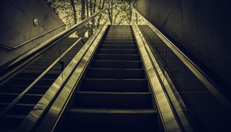 Photo pour Escalator for people, transport detail in interior - image libre de droit