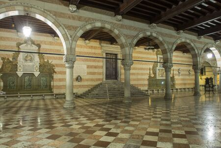 loggia of the town hall of Udine, Italy