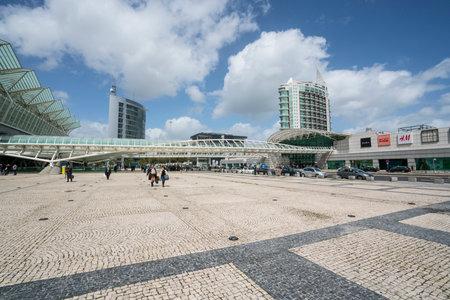 The Square in front of la Gare do Oriente station in Lisbon, Portugal