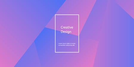 Illustration pour Geometric background. Minimal abstract cover design. Creative colorful wallpaper. Trendy gradient poster. Vector illustration. - image libre de droit