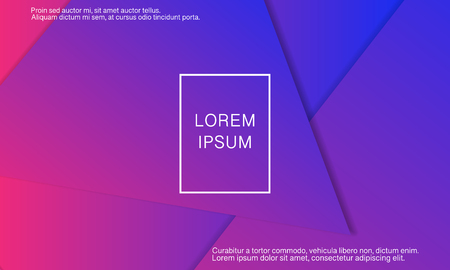 Ilustración de Geometric background. Minimal abstract cover design. Creative colorful wallpaper. Trendy gradient poster. Vector illustration. - Imagen libre de derechos