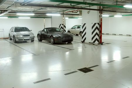 Underground parking of cars