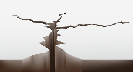 crack in the ground. vector illustration