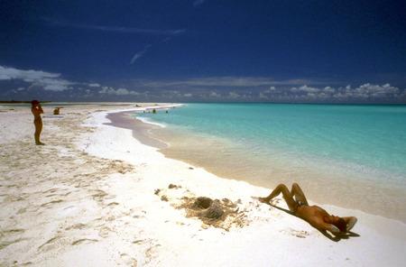 Relax in Paradise Beach, Cayo Largo del Sur, Cuba