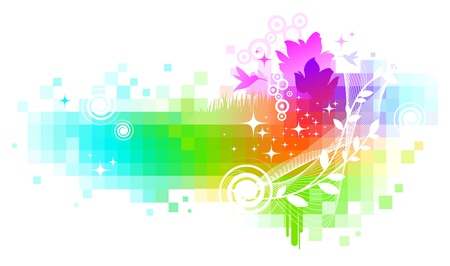Abstract colorful nature vector background