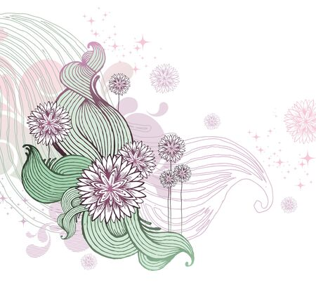 Hand drawn floral vector illustration