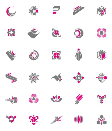 Illustration pour Vector set - abstract logos & icons - image libre de droit