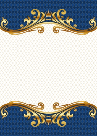 Illustration for Ornate golden vector frame - Royalty Free Image