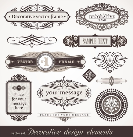 Decorative vector design elements & page decor