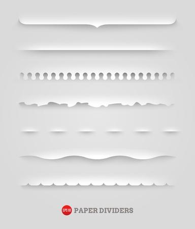 set of paper decorative dividers