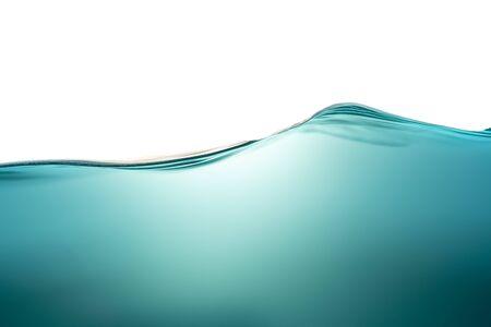 Foto de A wave of pure blue water, a symbol of freshness and ecology. Conceptual photo. Close-up. - Imagen libre de derechos