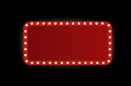 Illustration for Theater marquee isolated on white background. - Royalty Free Image