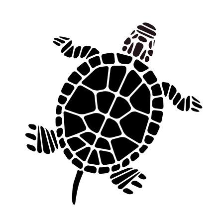 Illustration pour Turtle Silhouette - image libre de droit
