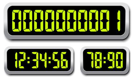 Set Of Digital Numbers. Countdown Timer