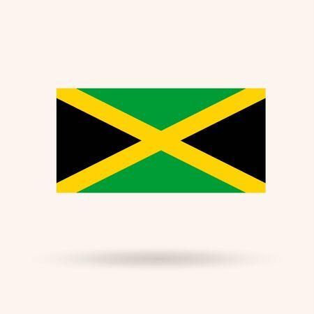 Flag of Jamaica. Vector Illustration