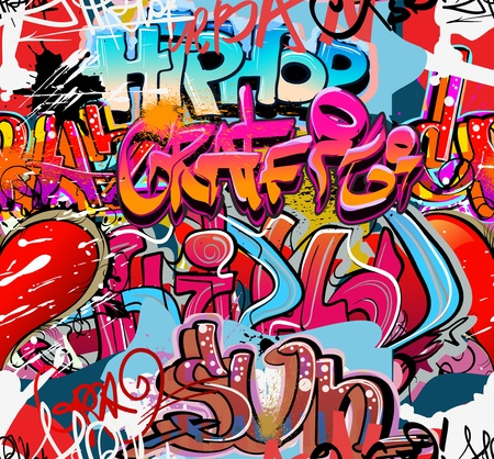 Graffiti wall urban hip hop background