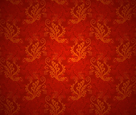 Ilustración de Wallpaper seamless background. Christmas red vintage texture - Imagen libre de derechos