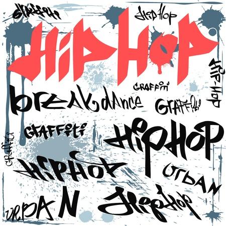 hip-hop graffiti tags
