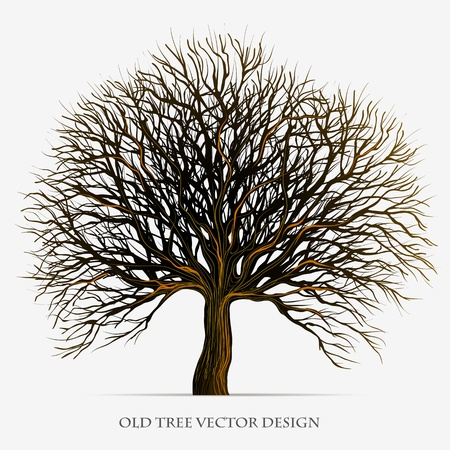 Tree silhouette illustration design