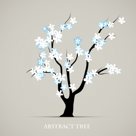 Tree blossom springtime art  Abstract plant graphic background