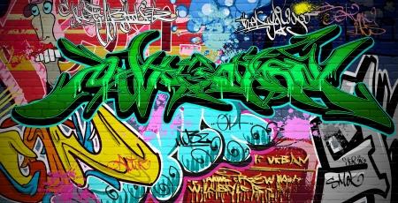 Graffiti wall urban art