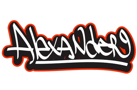 Graffiti font style name  Hip-hop design template for t-shirt, sticker or badge