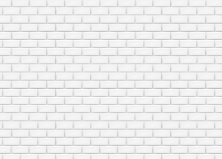 Illustration for White brick wall in subway tile pattern. Vector illustration. Eps 10. - Royalty Free Image