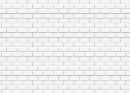 Illustration pour White brick wall in subway tile pattern. Vector illustration. Eps 10. - image libre de droit