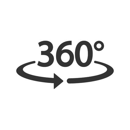 360 Icon. Vector illustration. Eps 10.