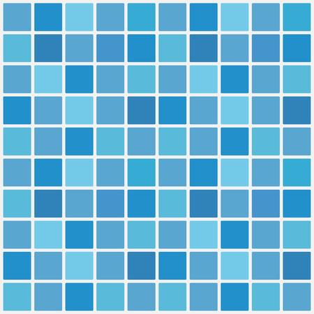 Illustration pour Blue ceramic tile mosaic in swimming pool. Vector illustration. Eps 10. - image libre de droit