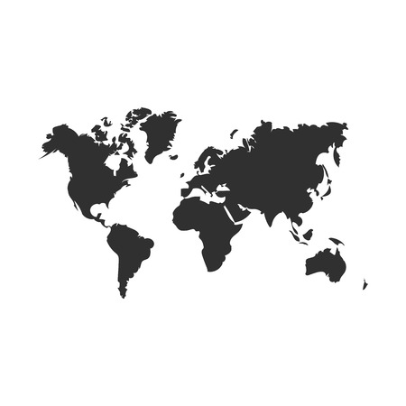Illustration pour world map map icon. isolated on white background. Vector illustration. Eps 10 - image libre de droit