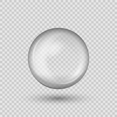 Illustration pour Translucent sphere with shadow on transparent background. - image libre de droit
